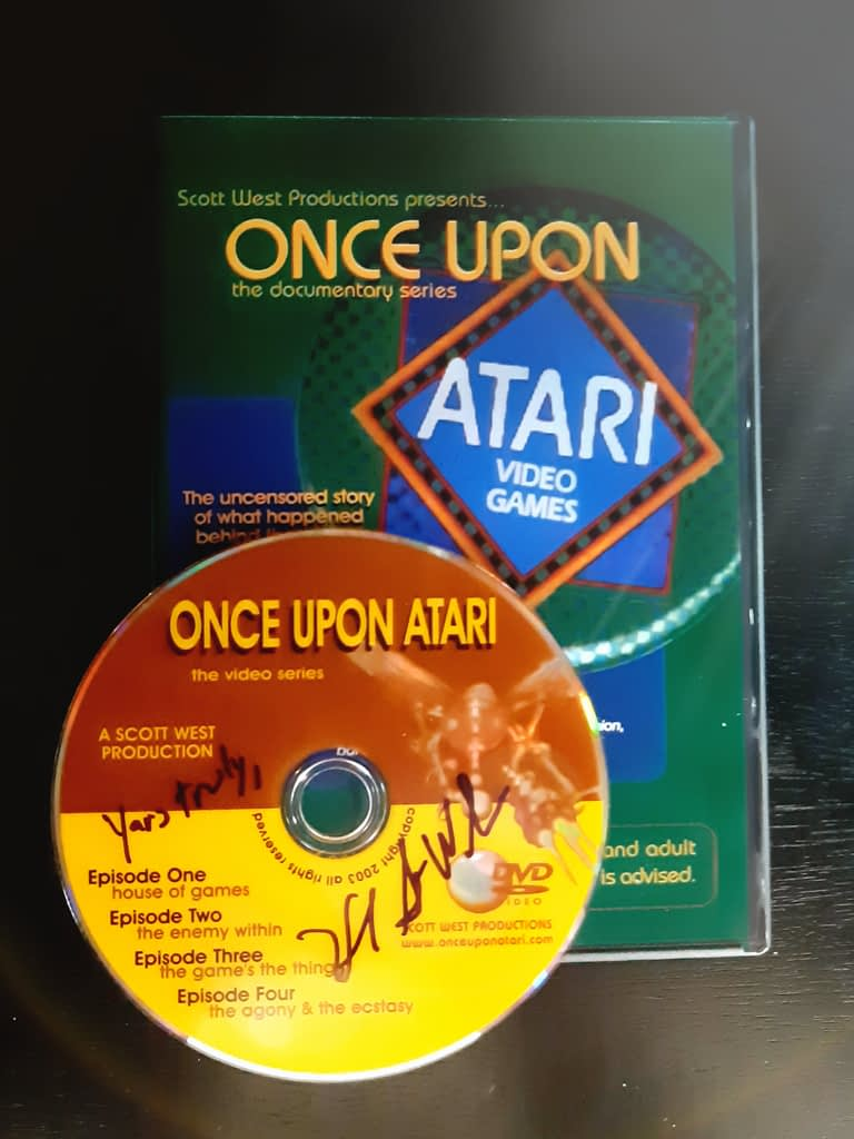 Once Upon Atari DVD with autograph