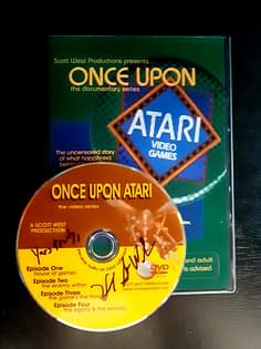 Once Upon Atari DVD cover and autograph